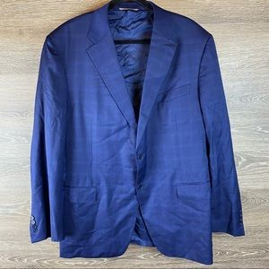 Canali Suit Jacket Classic Wool Checkered NWOT